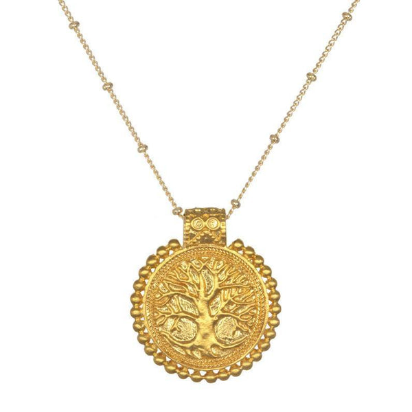 SATYA - Tree Of Life Mandala Necklace -