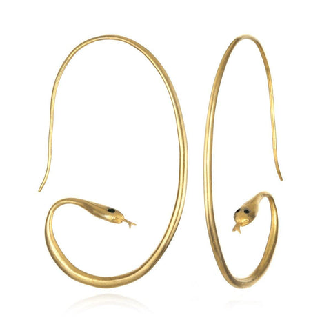 SATYA - Gold Boa Earrings -