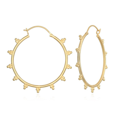 SATYA - Radiant Sphere Gold Earrings -