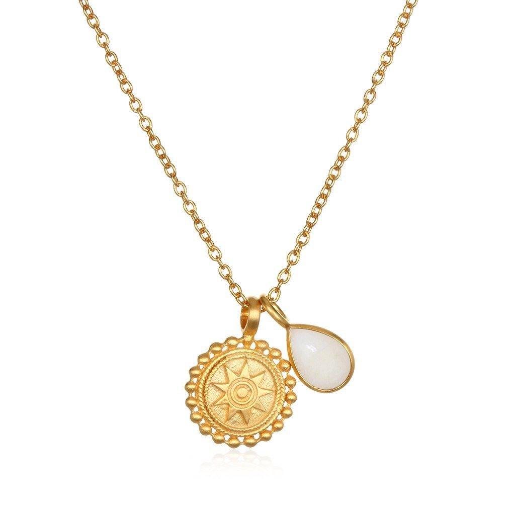 SATYA - Kette ' Mandala Birthstone Necklace - June ' -