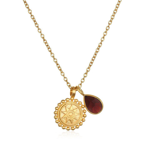 SATYA - Kette ' Mandala Birthstone Necklace - January ' -
