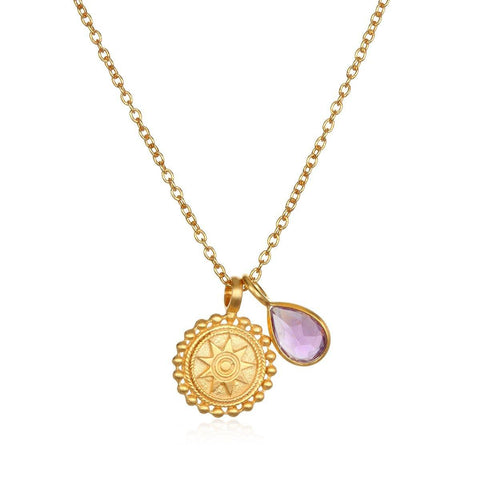 SATYA - Kette ' Mandala Birthstone Necklace - February ' -