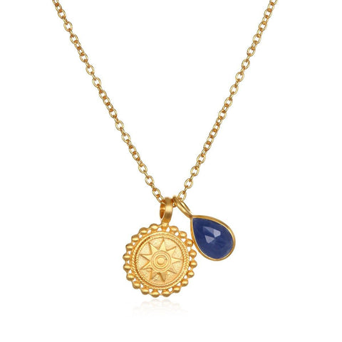 SATYA - Kette ' Mandala Birthstone Necklace - September ' -