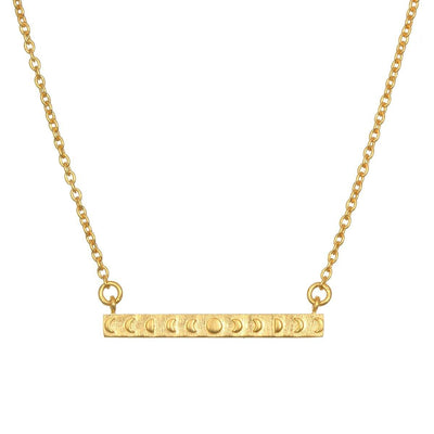 SATYA - Sacred Shift Moon Phase Gold Necklace - - Das Berlinerzimmer