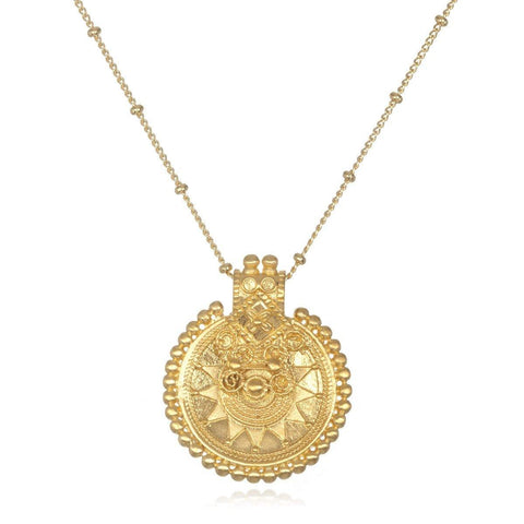 SATYA - Gold Mandala Necklace -