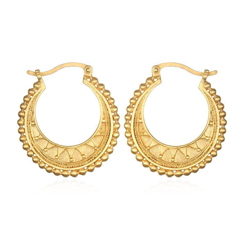 SATYA - Interwoven Gold Hoop Earrings -
