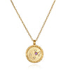 SATYA - Aquarius Zodiac Necklace Gold -