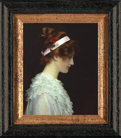 GABRIELE GRÄFIN DEYM - Portrait ' Girl Portrait with Victorian Headband ' -