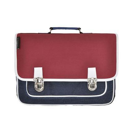 CARAMEL&CIE - Schoolbag ' Retro red ' -