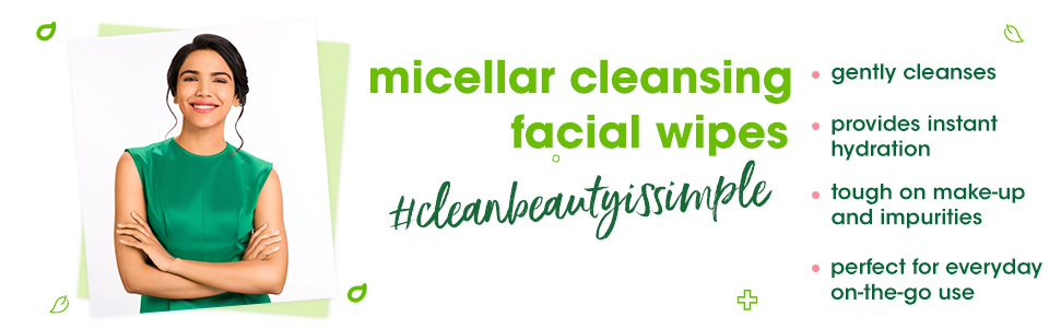 Simple Kind to Skin Micellar Cleansing Wipes Combo (Pack of 2) - (25 Wipes + 25 Wipes)