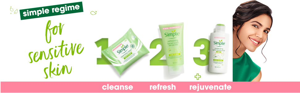 Simple Kind to Skin Refreshing Facial Wash (Pack of 2) - (150ml +150ml)