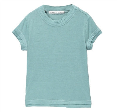 Elise Cool Double Hem Tee - Blue Mist
