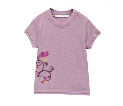 Elise Cool Double Hem Tee with Graphic - Lavender Mist