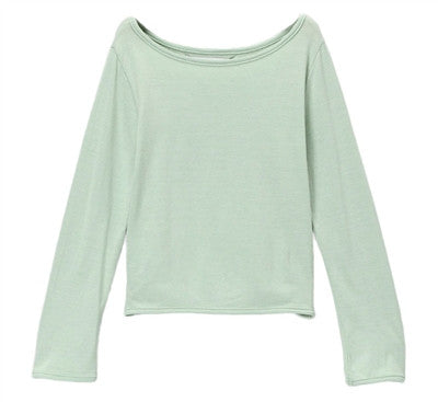 Martine Bateau Neck Tee - Green Mist