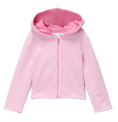 Colette Reversible Cropped Hoodie - Pink + Pink Mist