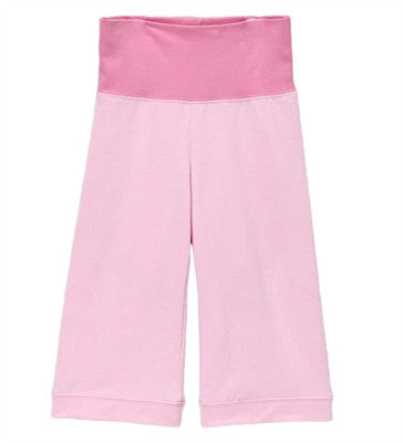 Gabrielle Roll Waist Cropped Pants - Pink + Pink Mist