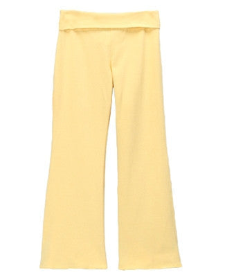 Solange Roll Waist Bell Bottoms - Yellow