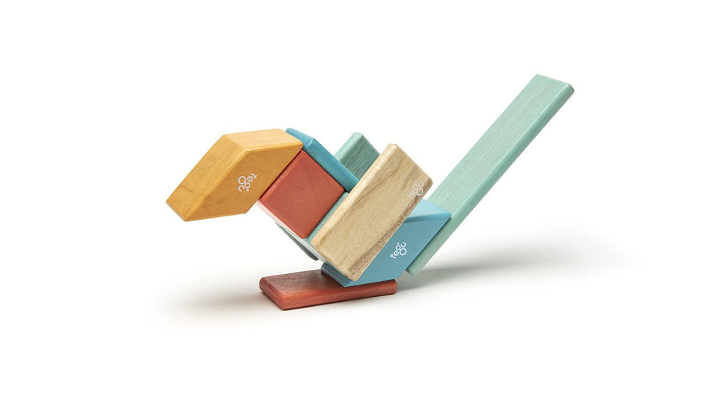 Tegu Classic Blocks - 14 Piece Set - Sunset