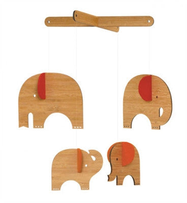 Petit Collage Red Elephant Deluxe Bamboo Mobile