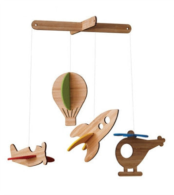 Petit Collage Up in the Air Deluxe Bamboo Mobile