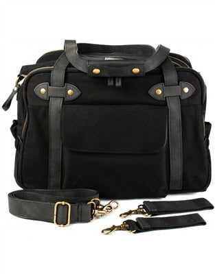SoYoung Charlie Lifestyle Diaper Bag -Black/Black Straps
