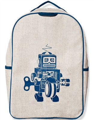 SoYoung Grade School Backpack Robot Blue