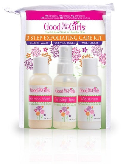 Good For You Girls 3 Step Exfoliating Skin Care Kit