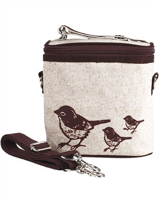 SoYoung Large Cooler Bag -Birds Brown