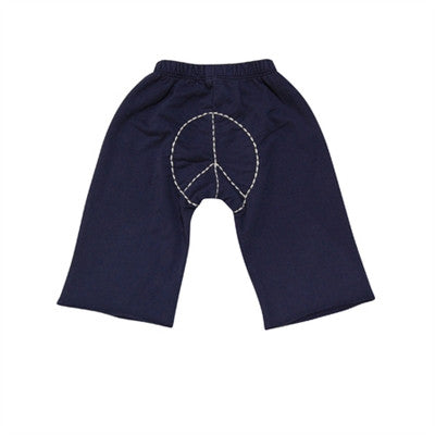 Go Gently Baby - Boys Organic Cotton Peace Pants - Navy