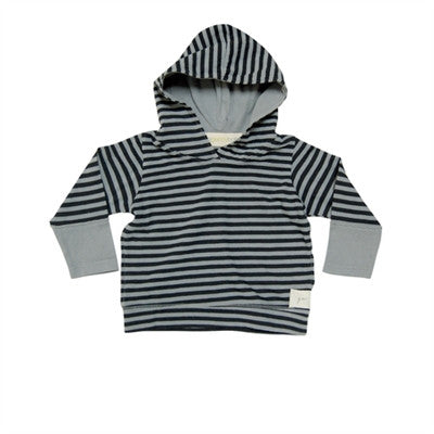 Go Gently Baby - Boys Striped Hoodie-Silver