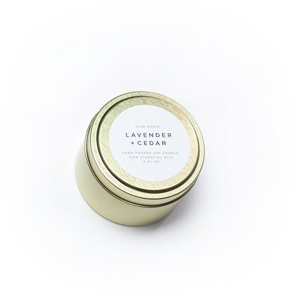 Lavender + Cedar Travel Tin Candle