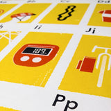 The Cyclist's Alphabet Poster
