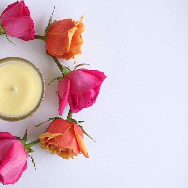 Geranium + Rose | 100% Essential Oils Soy Candle