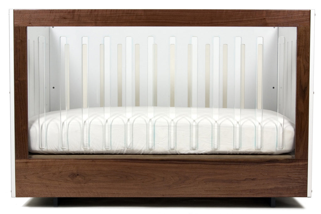 Spot on Square Roh Crib - One Side Acrylic And Walnut