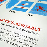 The Skier's Alphabet Poster