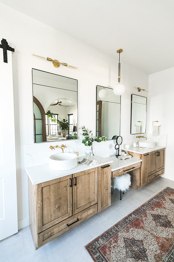 Devine Home Project, feat. Tara sconce by Mitzi