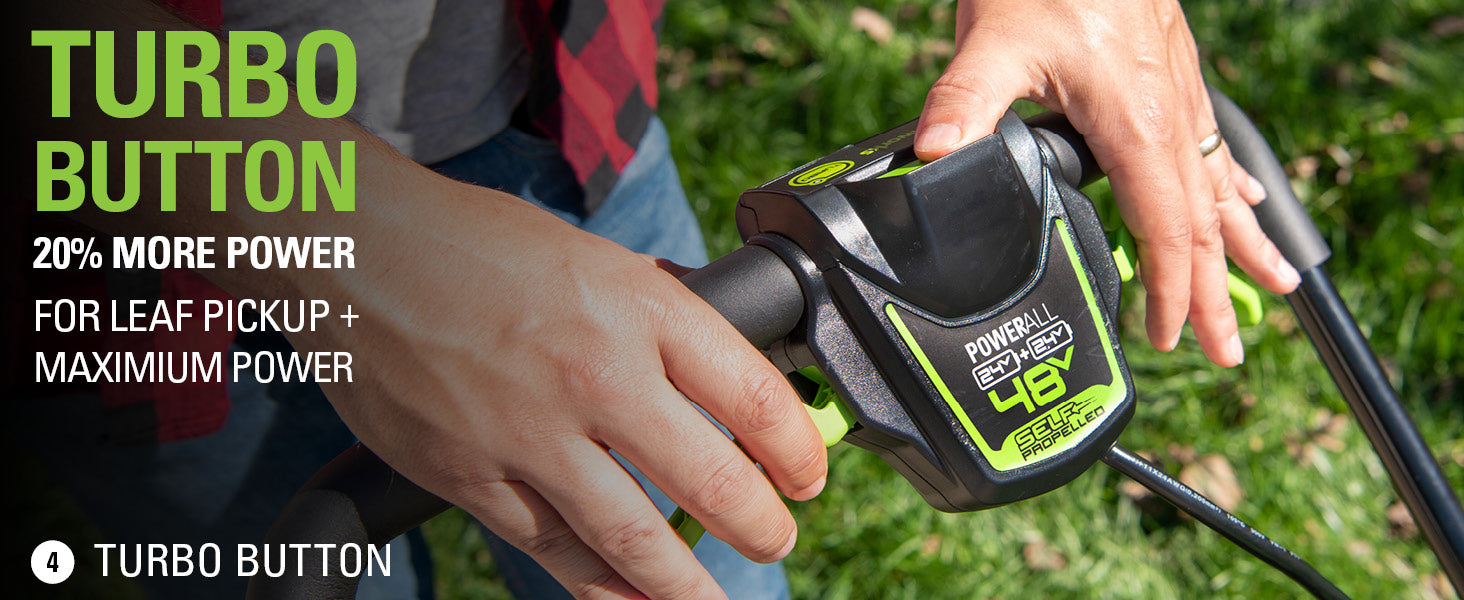 Greenworks Self-Propelled Lawn mower with USB Battery