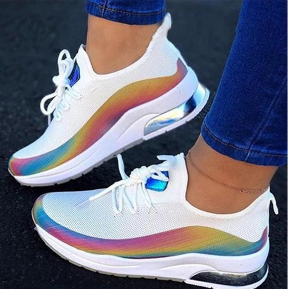 2020 New Fashion Lace-up Sneakers Ladies Casual Spring and Autumn Women's Breathable Comfortable Sneakers Women Vulcanized Shoes
