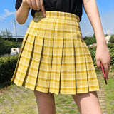 High Waist Women's Skirts Summer Sweet Female Pleated Skirt Fashion Chic Ladies Girls Mini Skirts Preppy Style Dance Short Skirt