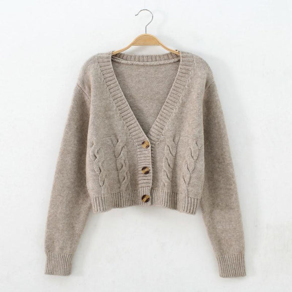 Woman Sweaters Women's Sweater 2020 Autumn Single-Breasted Knitted Cardigan Jacket Femme Chandails Pull Hiver