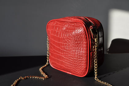 Croco bag - red