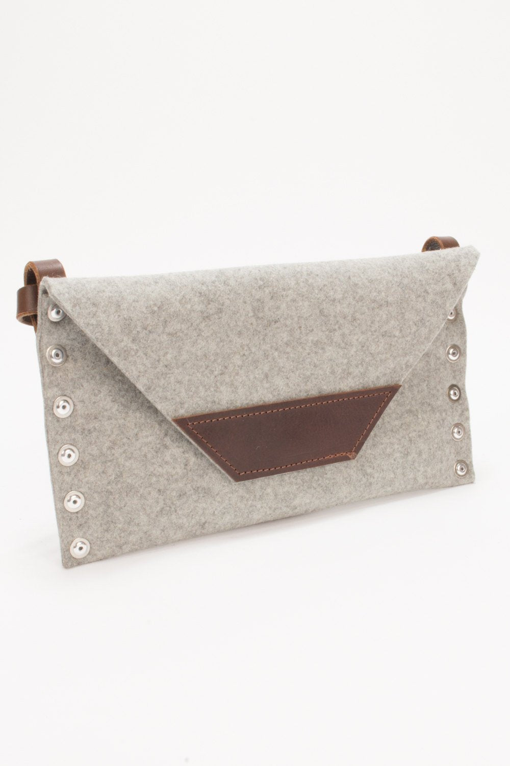 Felt Clutch, Womans Clutch Bag, Felt Shoulder Bag, Party Bag, Evening Bag, Grey Clutch, Handbag, Felt Handbag, Gift for Her, Night Out Bag
