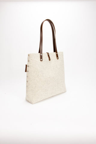 Tote Bag, Shopper Bag, Felt Tote Bag, Cream Felt Shopper, Shoulder Bag, Wool Felt Bag, Felt Shoulder Bag, Carry All Bag, Market Bag, Gift