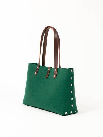 Felt Shoulder Bag, Felt Handbag; Green Bags & Purses, Shoulder Bags, Handbags, Felt Shoulder Bag