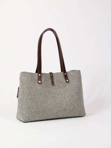 Felt Shoulder Bag, Felt Handbag; Grey Bags & Purses, Shoulder Bags, Handbags, Felt Shoulder Bag