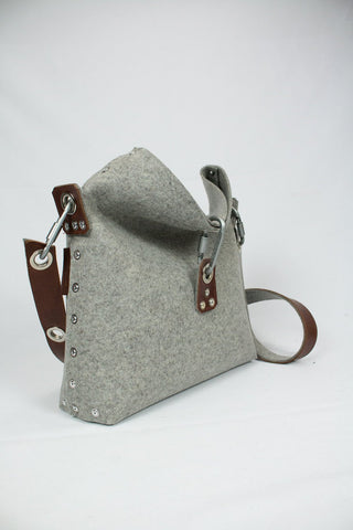Felt Handbag with fold over top, Cross Body Bag, Womans Purse, Felt Clutch bag, Womans Handbag, Gift for her.