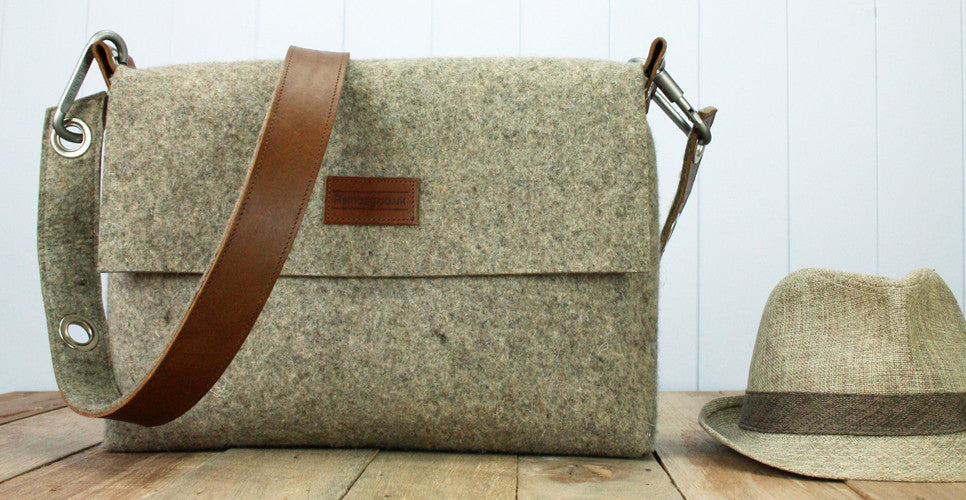 Large plain felt bag