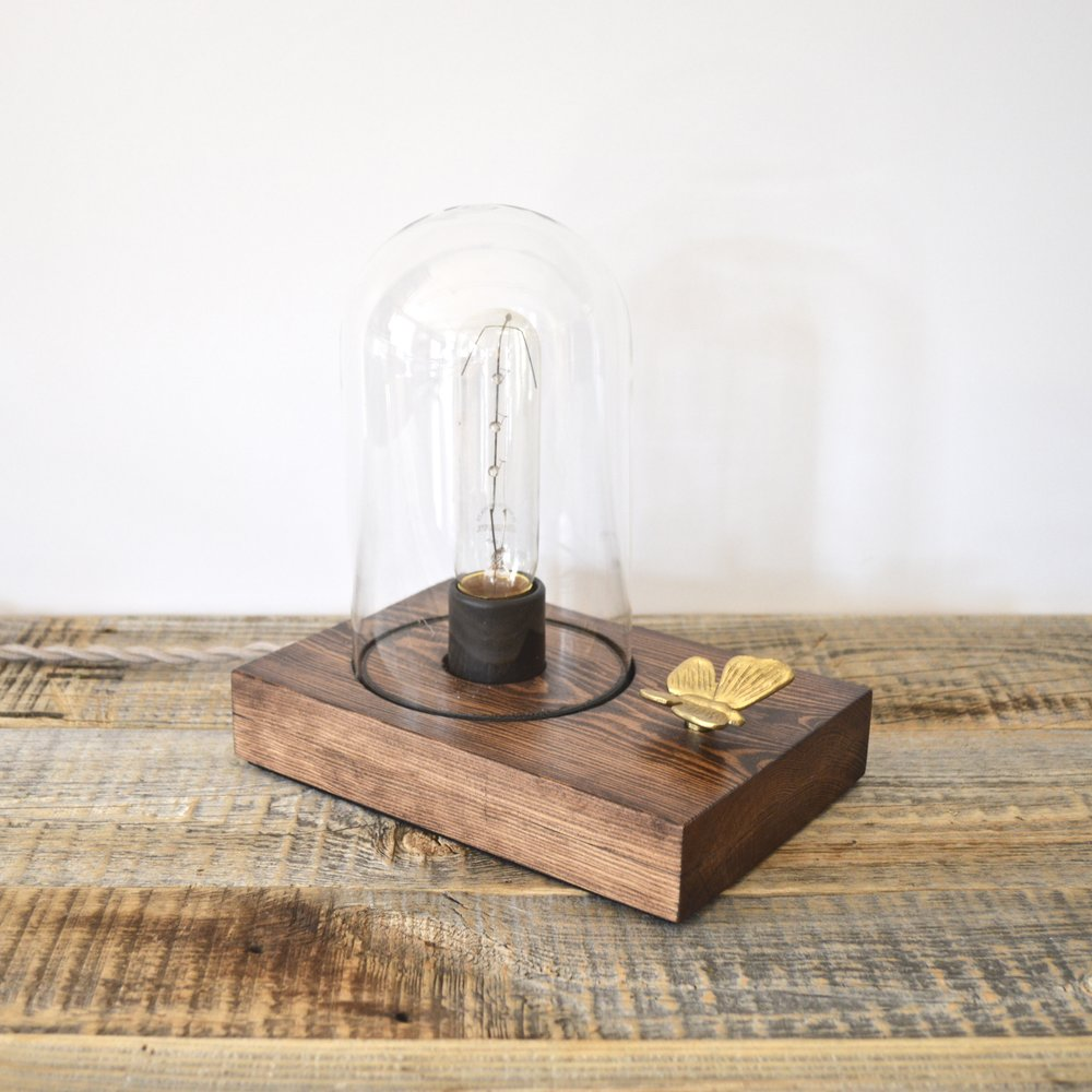 Vintage Butterfly Touch Sensor Table Lamp