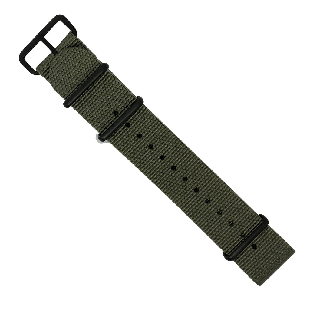 Premium Nato Strap in Grey with PVD Black Buckle (24mm)
