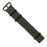 Premium Nato Strap in Grey with PVD Black Buckle (22mm)